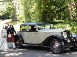 1931 Rolls Royce for wedding hire in Dorking